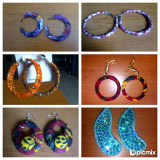 earring made with African fabrics