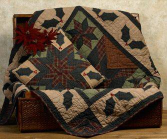 Quilt in or on an old chest.