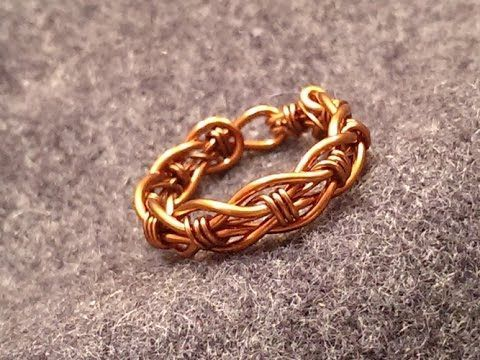 Tutorial twisted ring 1 - How to make wire jewelery - YouTube