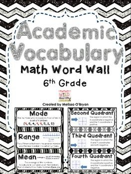 6th grade math vocabulary words and definitions pdf