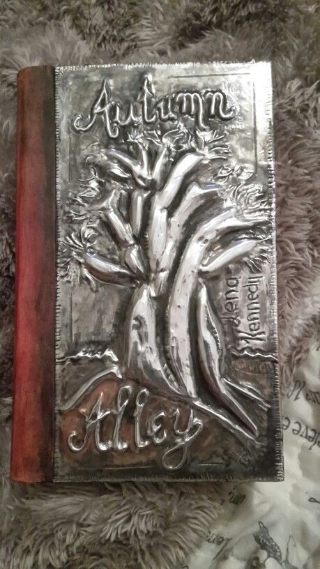 Pewter and leather book cover