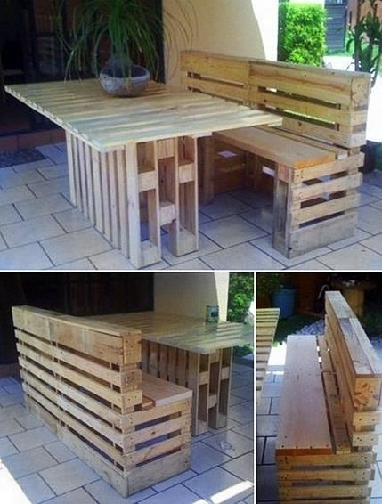 A pallet picnic table and benches. https://www.facebook.com/photo.php?fbid=267861913350826=a.198062263664125.51265.197939013676450=1