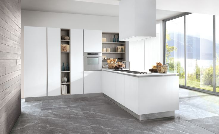 Berloni B-50 Kitchen: Solutions that denote aesthetic incisiveness, where shapes are harmoniously mixed with materials and rationality enhances practicality.