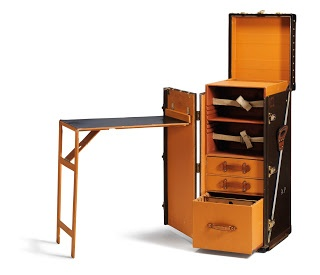 My portable workstation/jewelry bench!!!    Louis Vuitton Stokowski Writing Desk Trunk from 1936