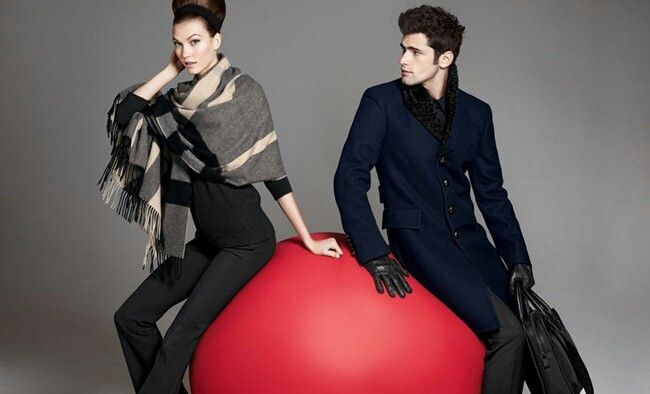 Karlie Kloss & Sean O'Pry On The Ball for Neiman Marcus The Christmas Book Holiday 2012