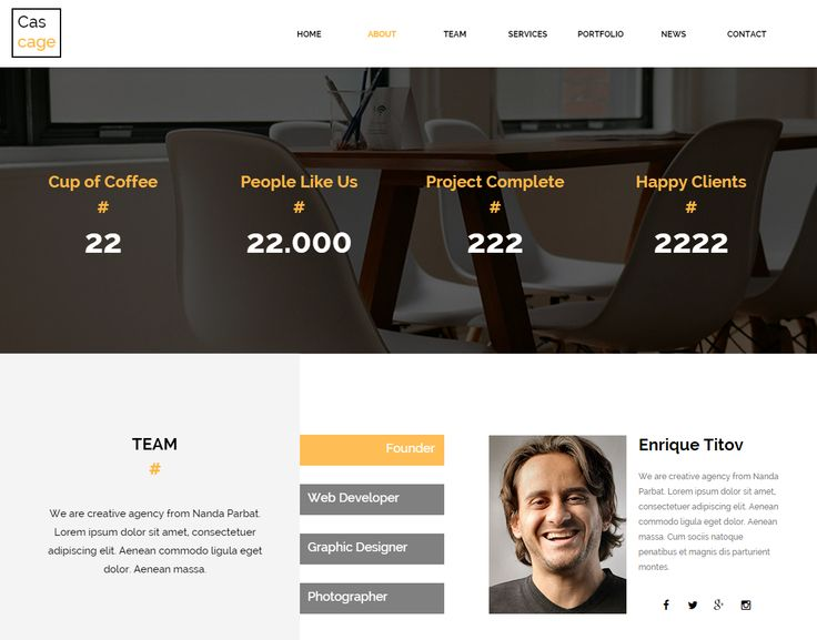 CASCAGE – CREATIVE AGENCY MUSE TEMPLATE