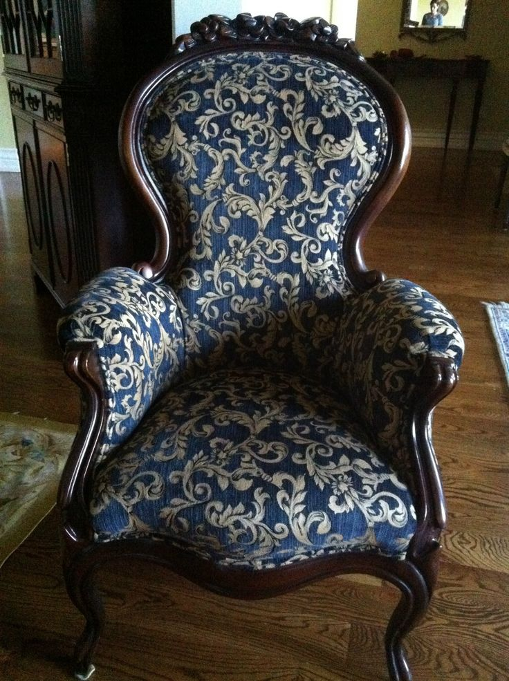 Victorian Queen Anne Parlour Chair...from the 1930's...refinished
