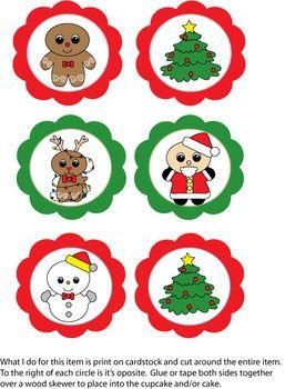 Cupcake Paper Christmas Crafts
