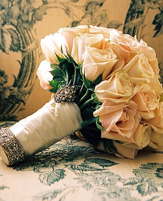 Affair of the Heart Vintage Rose Bouquet by whiteriver51 on Etsy, $450.00