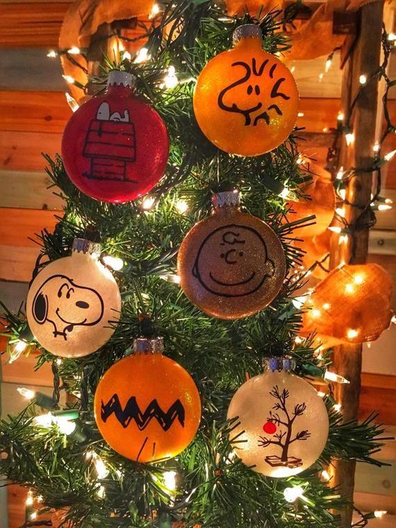 Charlie Brown Christmas Ornaments  2020 Peanuts Christmas Collection Glass Christmas Ornament. Charlie