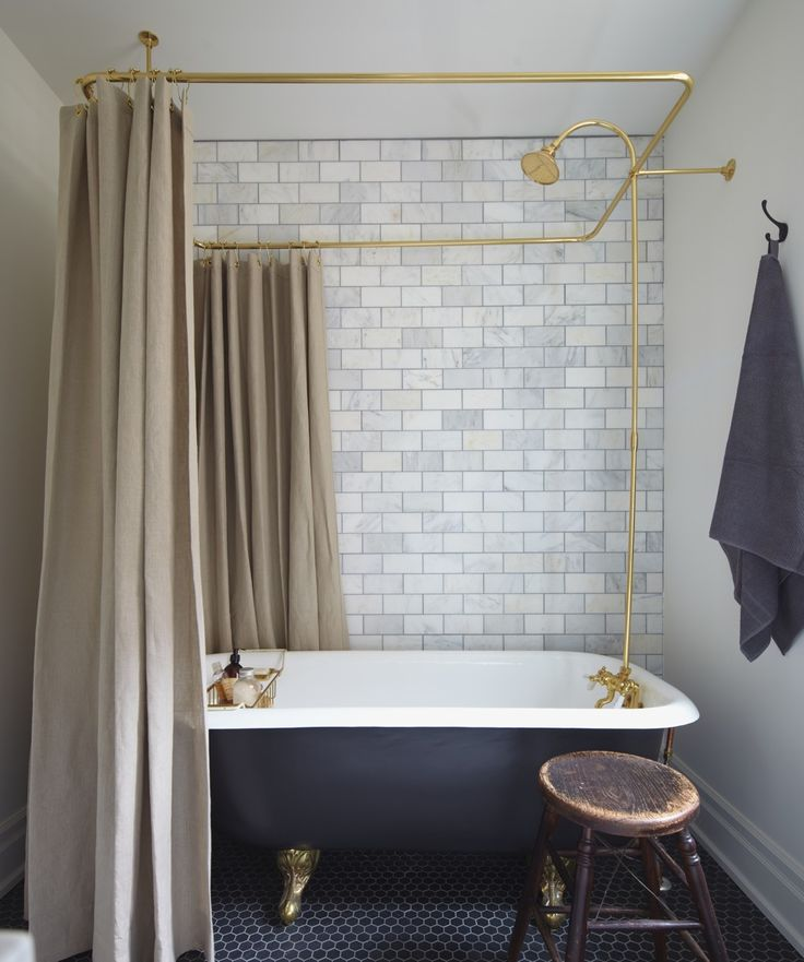Modern Victorian bathroom with copper pipes  Mazen Studio | Selected Projects