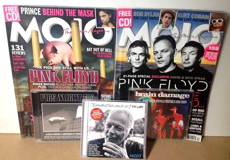 PINK FLOYD 2 x Mojo Mags with 3 CDs (2014 & 2017) Dave Gilmour Waters Animals