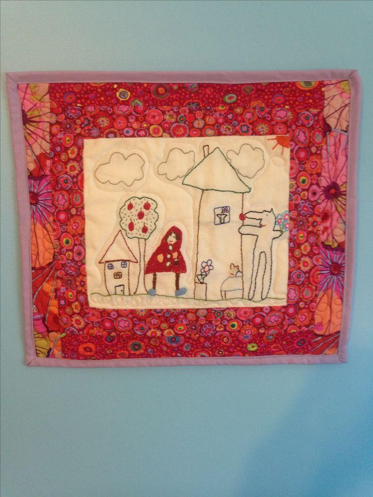 Fait à partir d'un dessin de Sophie: le petit chaperon rouge - juillet 2016