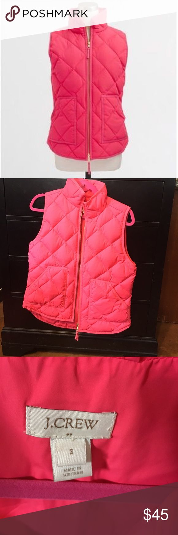NWOT J. Crew Factory Pink Vest Never worn; only took off the tags and tried it on J. Crew Jackets & Coats Vests