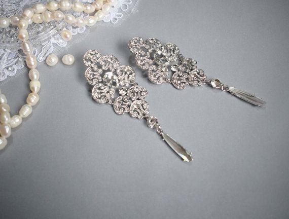 Vintage Chandelier Earring Wedding Earring by Mkedesignwedding