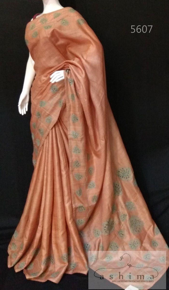Tussar Silk Saree in Sarees Pinterest Saree Silk