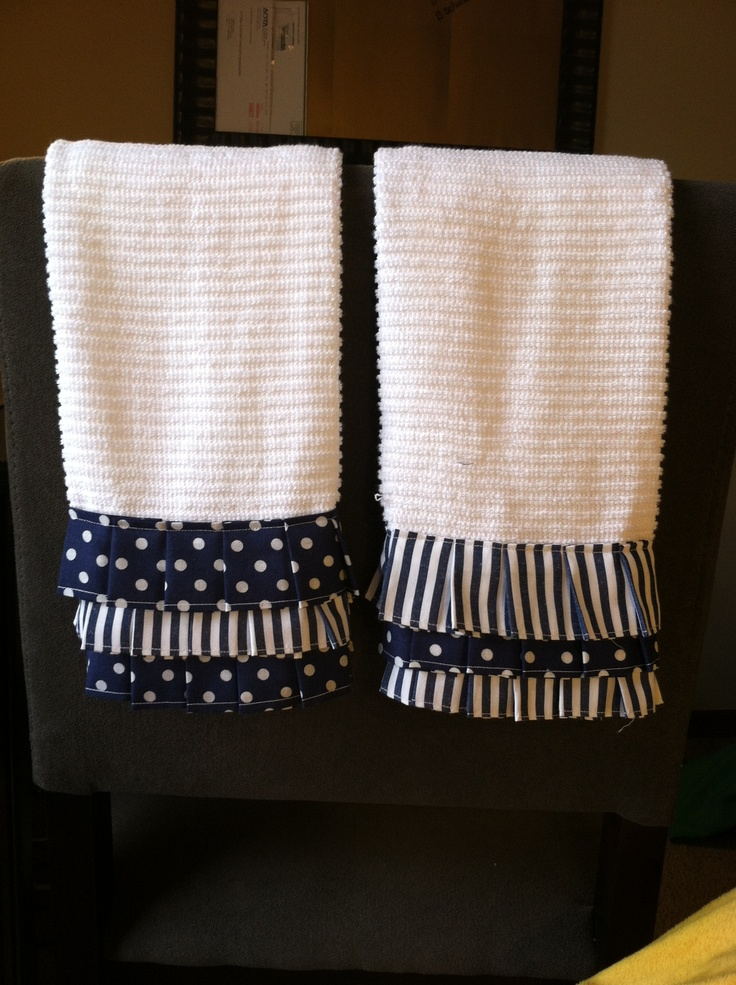 Ruffle kitchen towels. IF I ever have time to sew again ...