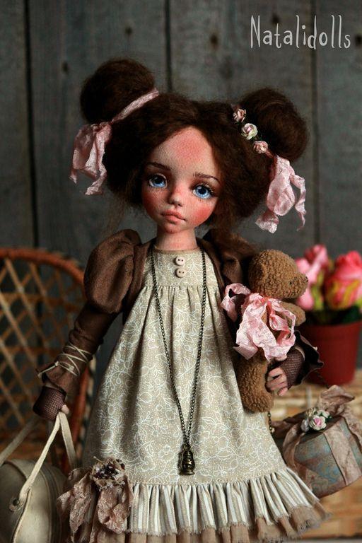 Стефания - бежевый,авторская ручная работа,интерьерная кукла,бохо,бохо-стиль