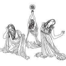GRAEAE the horrid-creatures of greek mythology coloring page - Coloring page - COUNTRIES Coloring Pages - GREECE coloring pages - GREEK MYTHOLOGY coloring pages - GREEK FABULOUS CREATURES AND MONSTERS coloring pages
