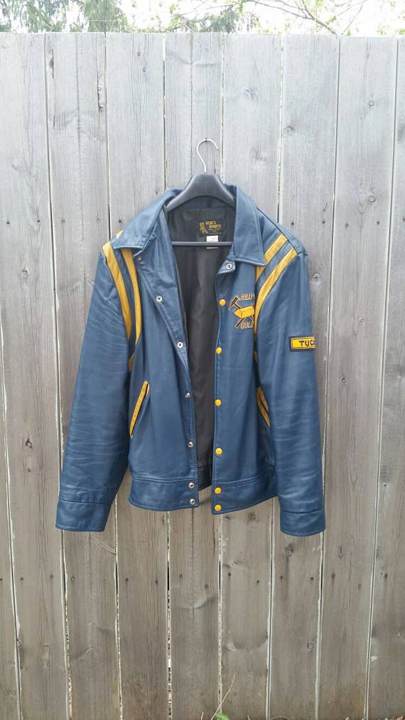 Check out this item in my Etsy shop https://www.etsy.com/listing/529499967/vintage-1980s-varsity-style-blue-leather