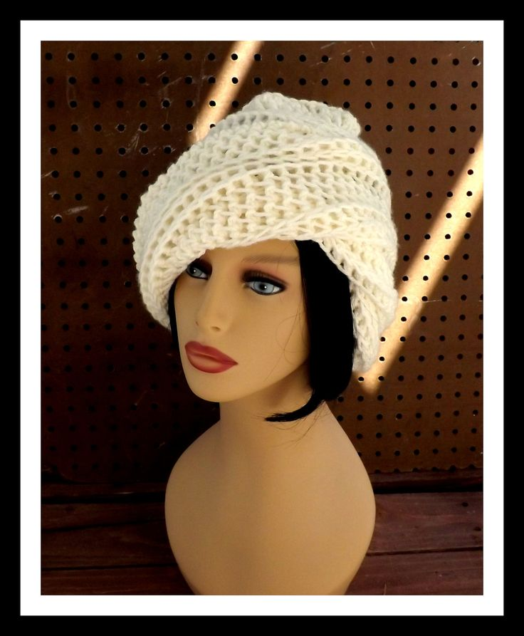 Crochet Hat Womens Hat OMBRETTA Crochet Beanie Hat Ivory Hat by strawberrycouture on Etsy 40.00 USD