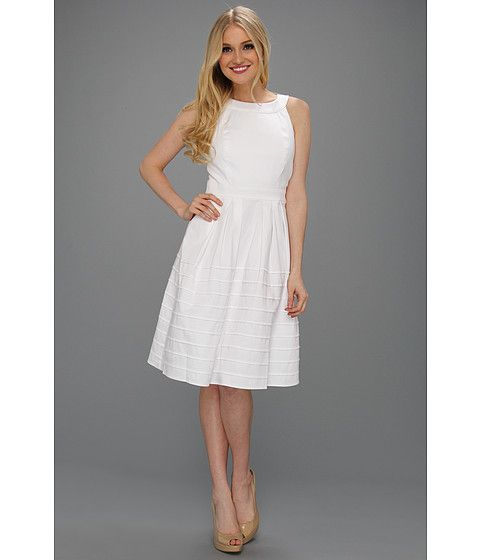 Calvin Klein White Sundress, $118. (Suggested item to recreate this working mom outfit idea:  http://www.franticbutfabulous.com/2013/06/05/working-mom-outfit-of-the-week-the-little-white-dress/?utm_medium=social_media_campaign=FBFsocial)