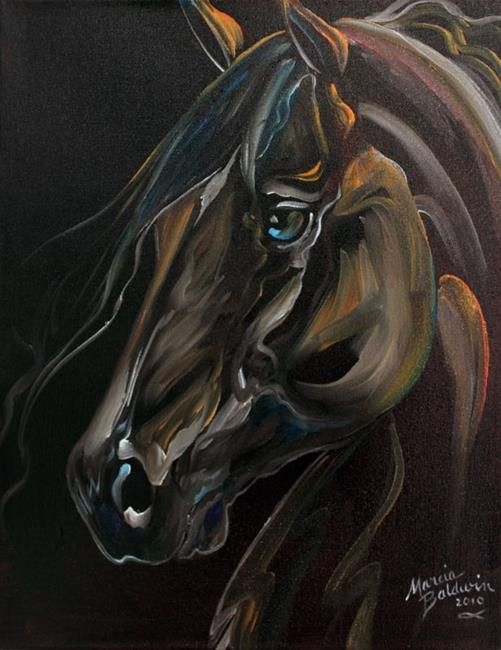Art: KNIGHT RIDER HORSE by Artist Marcia Baldwin