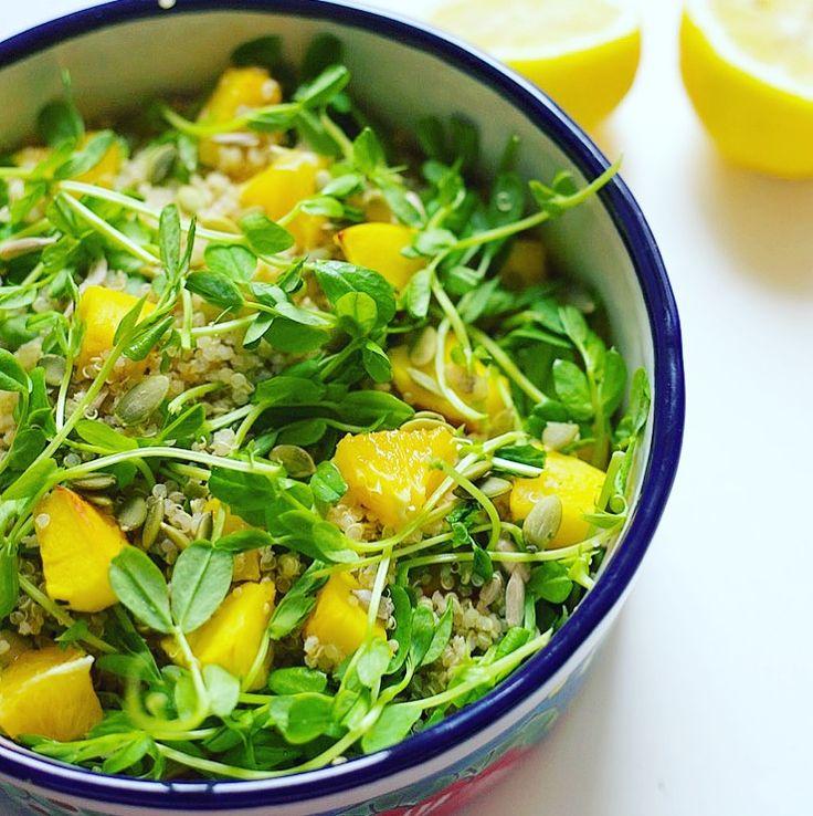Citrus Thyme Quinoa Bowl (Low FODMAP, Vegan)