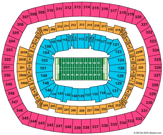 MetLife Stadium (Formerly New Meadowlands Stadium) seating chart