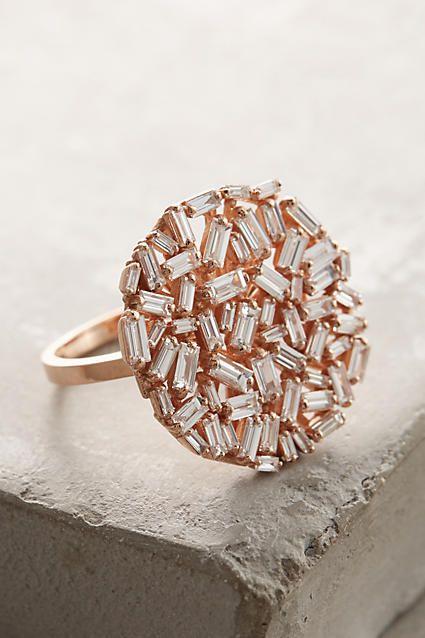 White Diamond Ring in 18k Gold - anthropologie.com