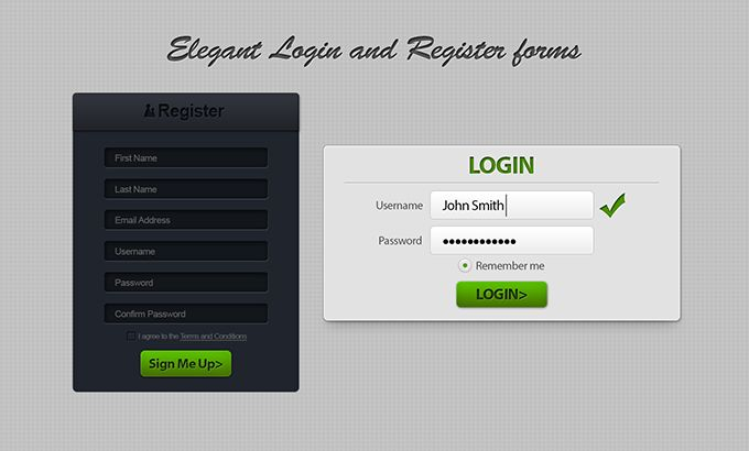 20 High Quality and Creative Free PSD Forms + 6 Premium Options