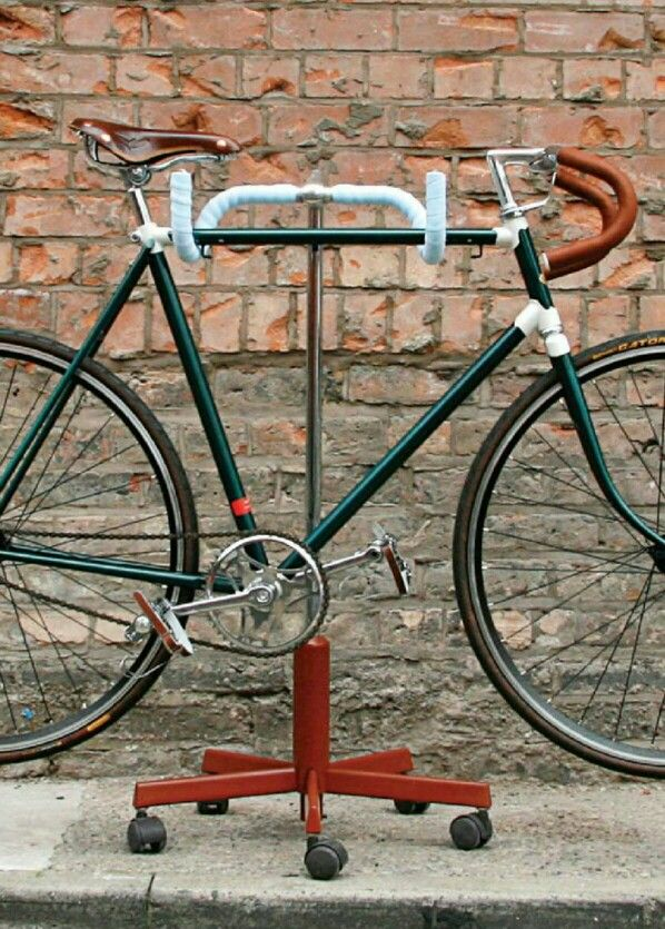 Old bikes need not retire permanently--use handlebars for hanging.