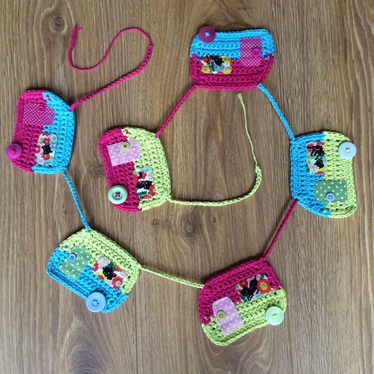 Crochet Caravan Bunting - Crochet Bunting - Crochet Pattern