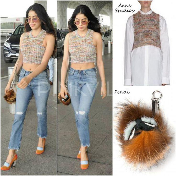 Celebrity Style,fendi,Céline,Jhanvi Kapoor,airport style,Acne Studio