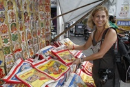 Copyright photo by Chester SImpson - shopping for Ganesh bags in Udaipur 2010