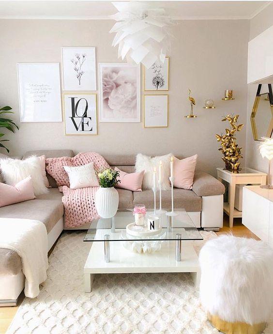 50 Amazing Pink Living Room Design Ideas Girly Living Room Living Room Decor Apartment Pink Living Room