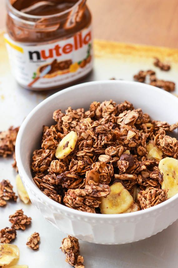 Banana Nutella Granola by sallysbakingaddiction.com