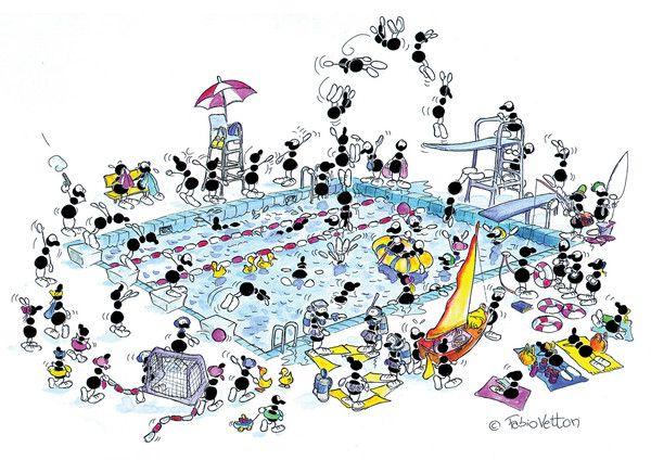 """Puzzle """"Piscina"""". #formiche #puzzle #piscina #nuoto #swimming #sport #estate"""