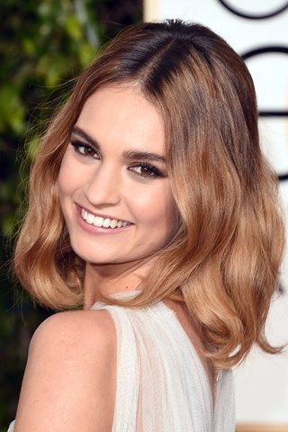 Golden Globes 2016 beauty - Lily James