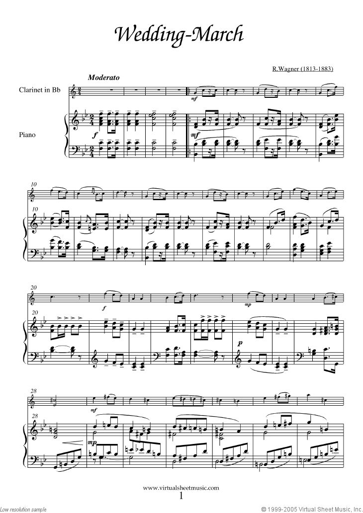 Wedding March Sheet Music Organ