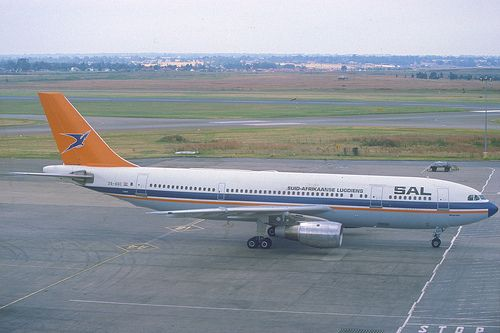 South African Airways Airbus A300B2K-3C; ZS-SDC, March 1986