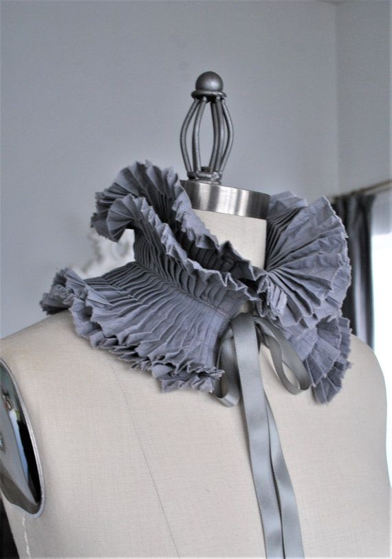 Grey Pleated Ruffle Collar/More colors/Detachable