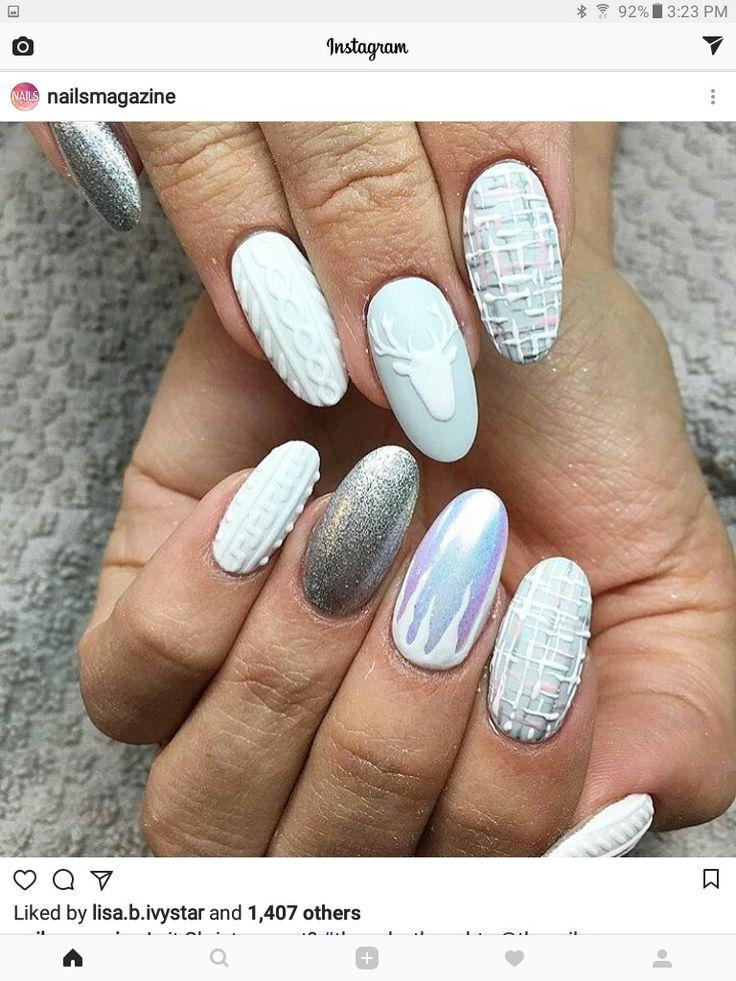 The 25 best 3d acrylic nails ideas on pinterest 3d nail art 3d beautiful nail art gorgeous nails fabulous nails christmas nail art holiday nails art deco nails top nail nail nail nails 2017 prinsesfo Images