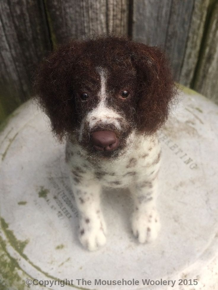 """Amazing - Needle felted dog commission, """"Molly"""" a special little springer spaniel."""