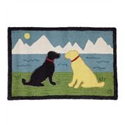 Hand-Hooked Wool Stay Dog Hearth Rug | Hearth Rugs