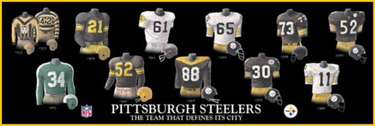 Pittsburgh Steelers Uniform History  www.steelers.com