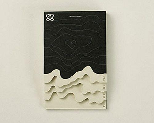 topographic note pad