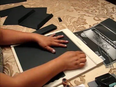 How to make envelope pages out of cardstock for mini albums - YouTube