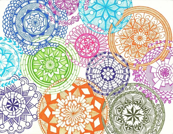 Overlapping Interlocking Intricate Mandalas