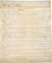 The United States Constitution is the supreme law of the United States of America.[1] The Constitution, originally comprising seven articles, delineates the national frame of government. Its first three articles entrench the doctrine of the separation of powers, whereby the federal government is divided into three branches: the legislative, consisting of the bicameral Congress; the executive, consisting of the President; and the judicial, consisting of the Supreme Court and other federal…
